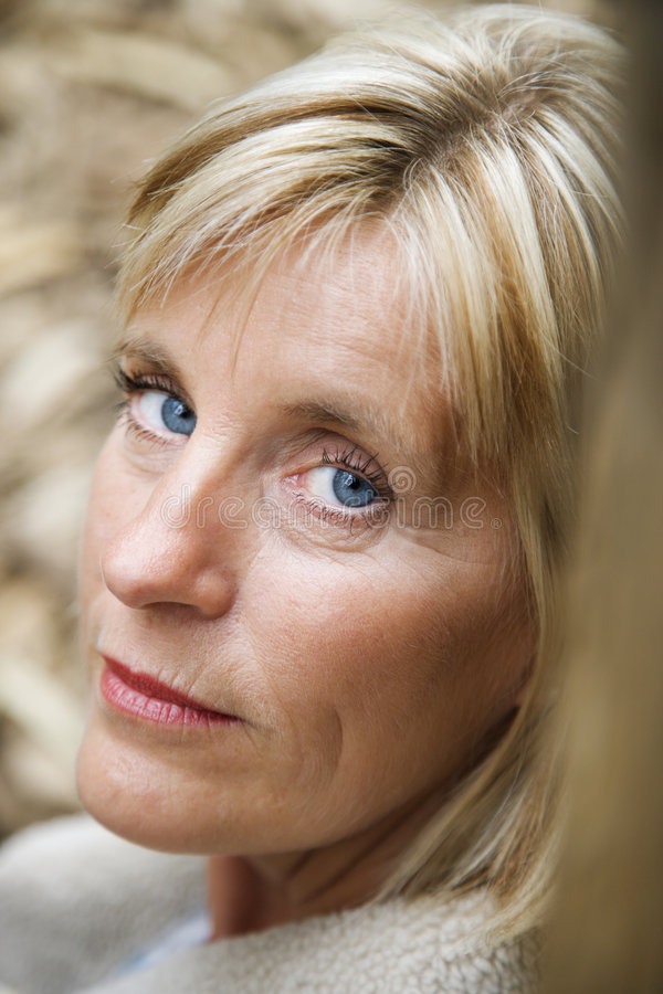 Head shot of Caucasian woman. stock images