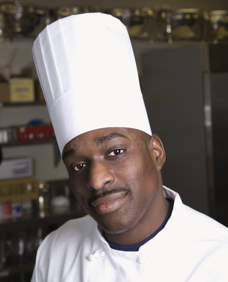 Head shot of chef. royalty free stock photos