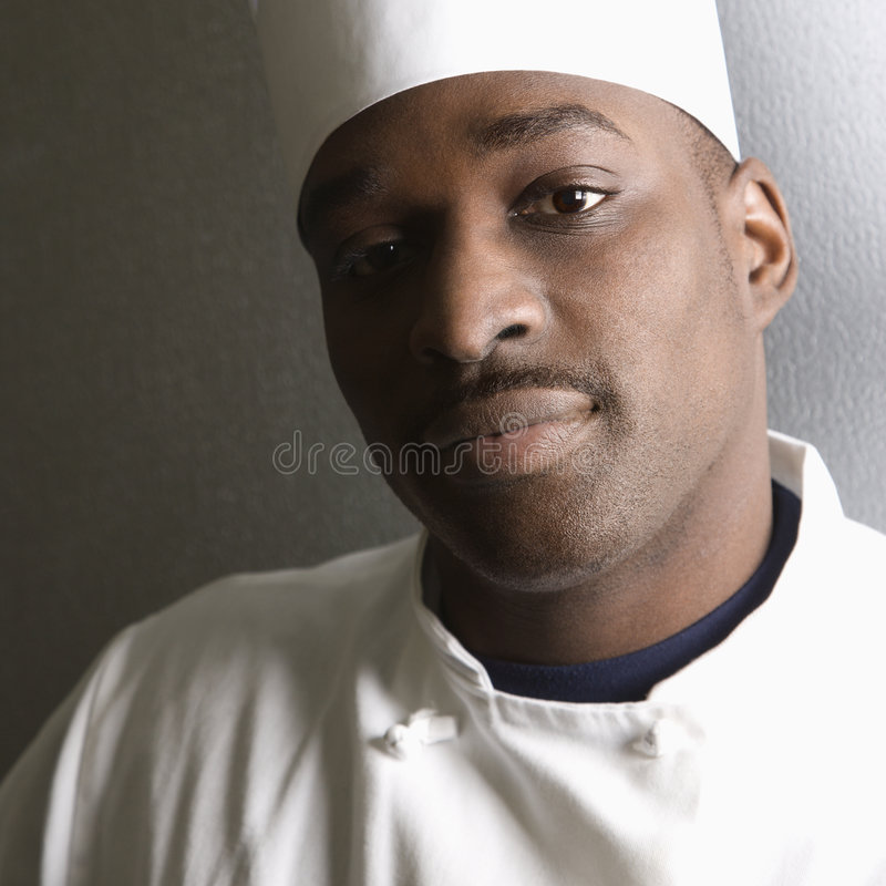 Head shot of chef. stock images