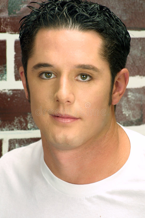 Head shot of a guy stock photo