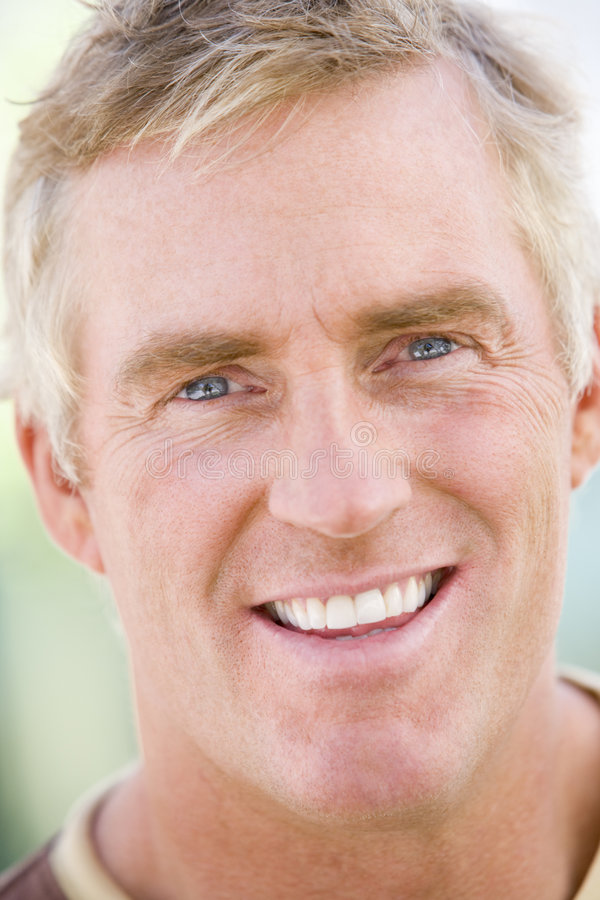 Head shot of man. Smiling stock images