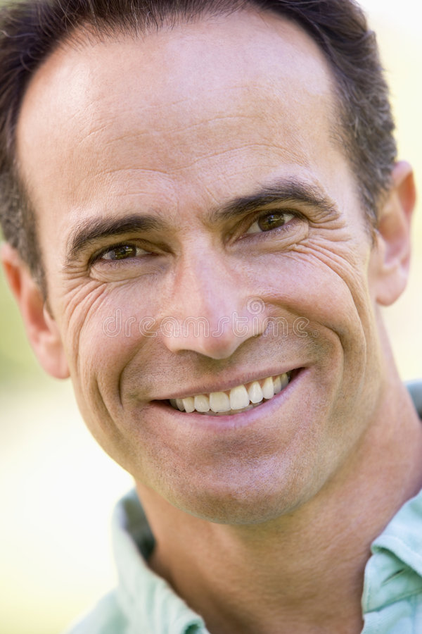 Head shot of man smiling royalty free stock photography