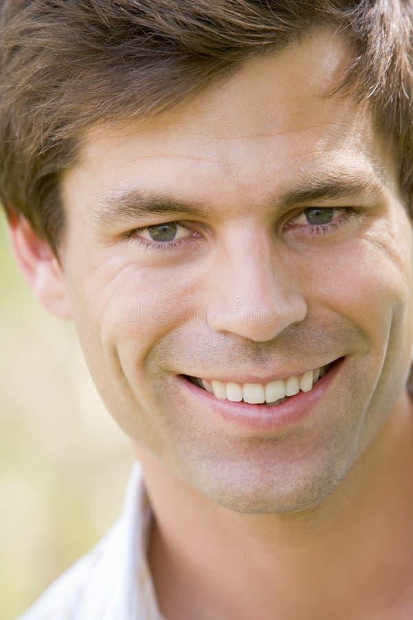 Head shot of man smiling royalty free stock image