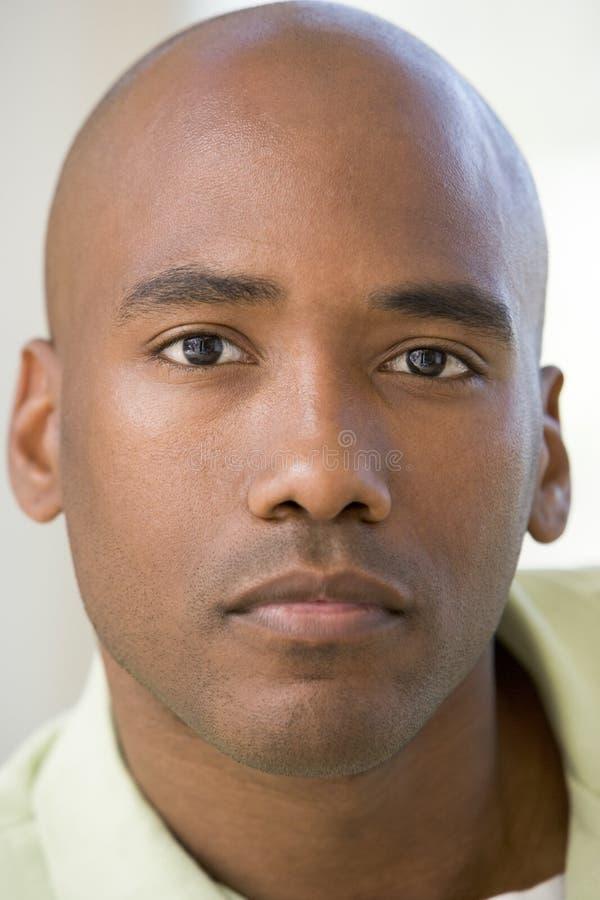 Head Shot Of Man Thinking Stock Photo