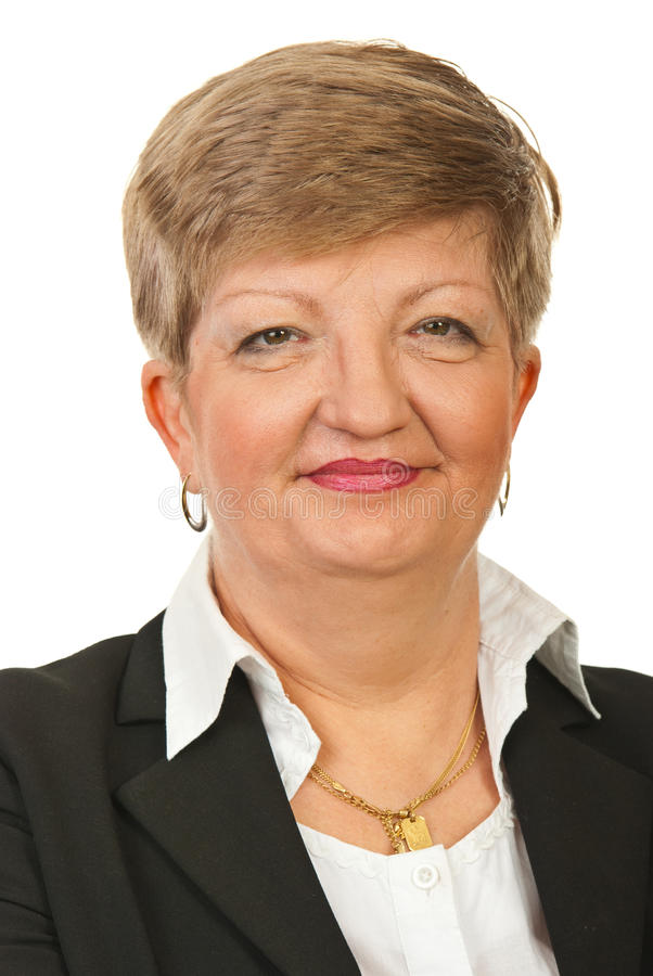 Head shot of mature business woman royalty free stock photo