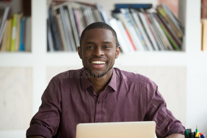 Portrait of young handsome smiling african american businessman. royalty free stock photo
