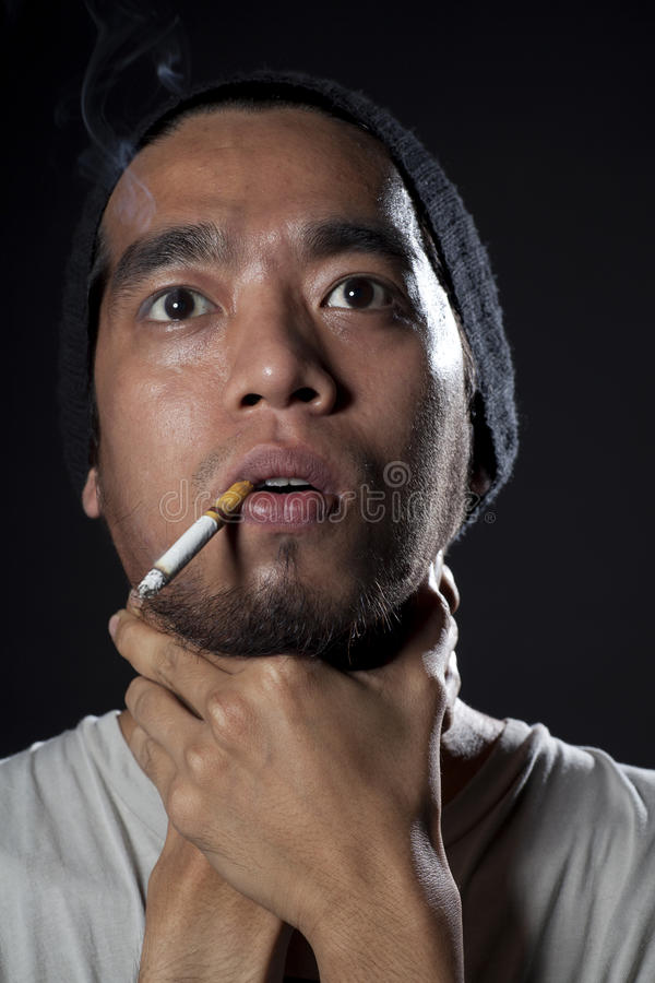 Download Head shot of a sick smoker stock photo. Image of health - 24208208