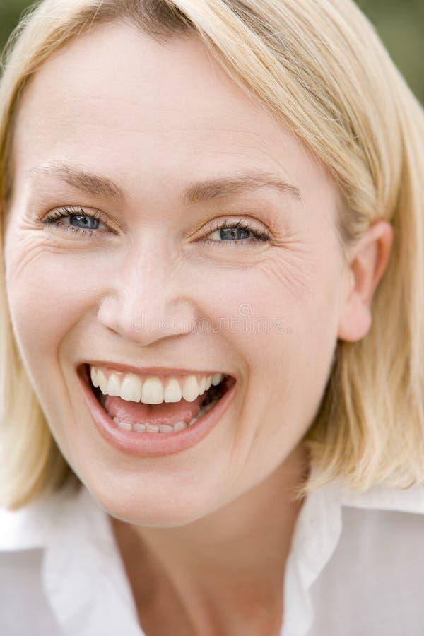 Head shot of woman stock photo