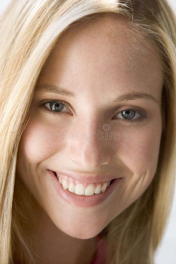Head shot of woman. Smiling royalty free stock photo