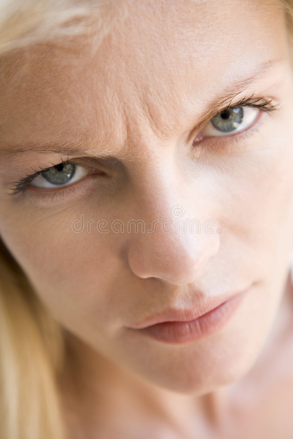 Download Head Shot Of Woman Scowling Stock Image - Image: 5944929