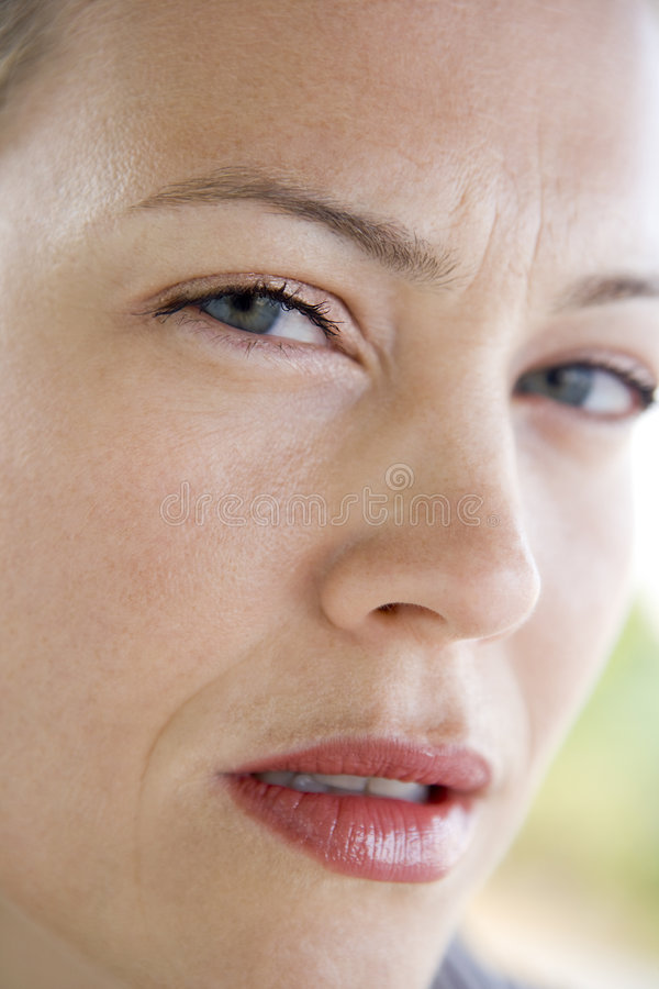 Download Head Shot Of Woman Scowling Stock Photo - Image: 5945026