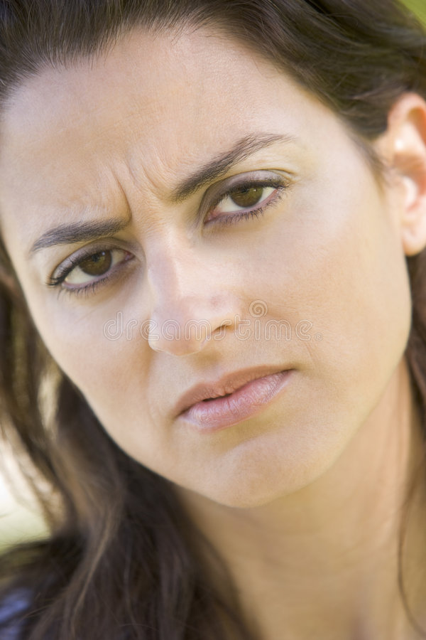 Download Head Shot Of Woman Scowling Stock Photo - Image: 5945194