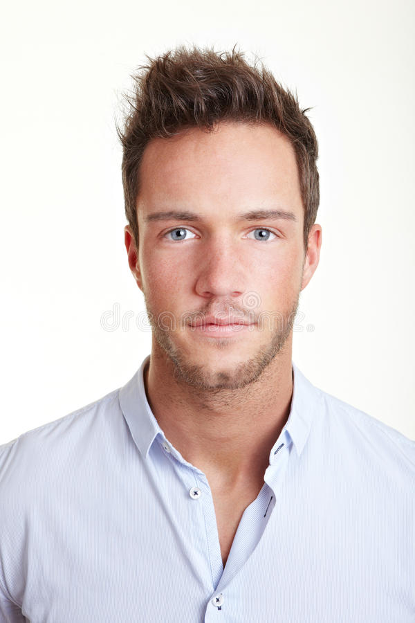 Head shot of young business man stock image