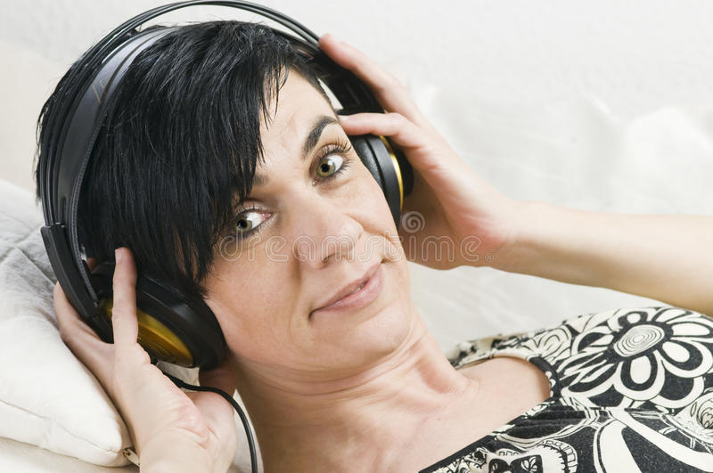 Download Head phones on a couch stock image. Image of beauty, 40 - 30269593