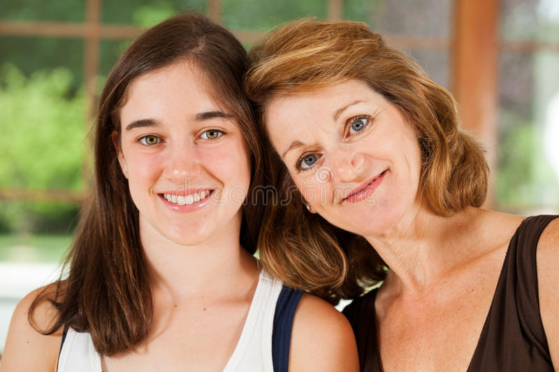 Download Mother And Daughter Portrait Stock Image - Image of middle, family: 29860749