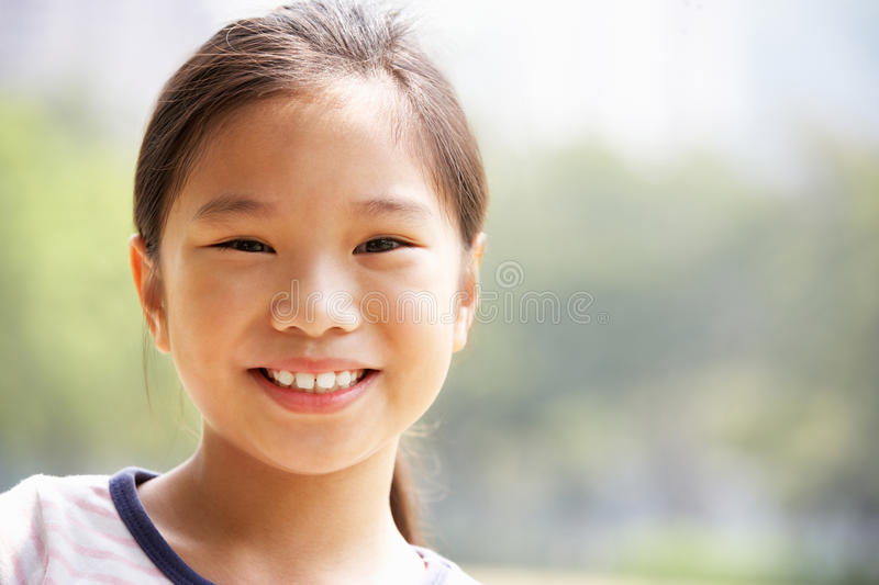 Head And Shoulders Portrait Of Chinese Girl Royalty Free Stock Images