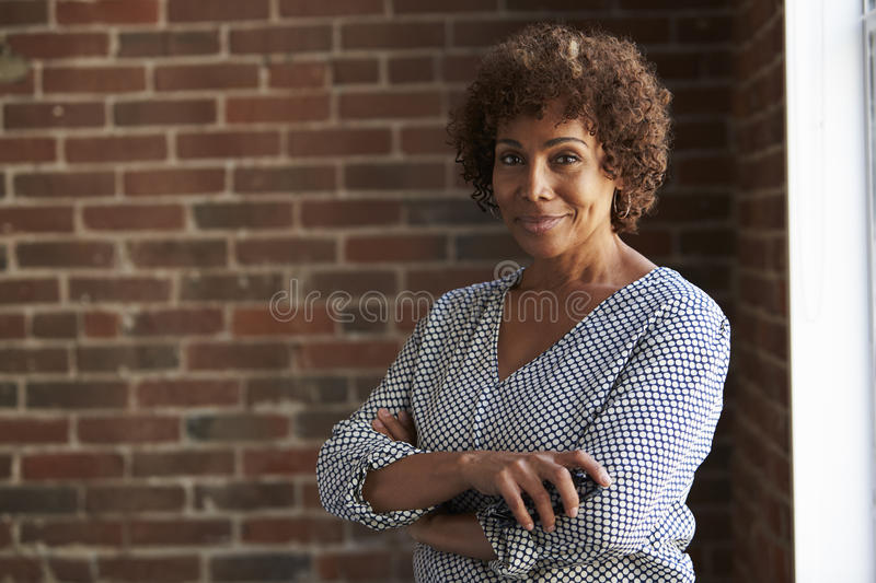 Head And Shoulders Portrait Of Mature Businesswoman stock photography