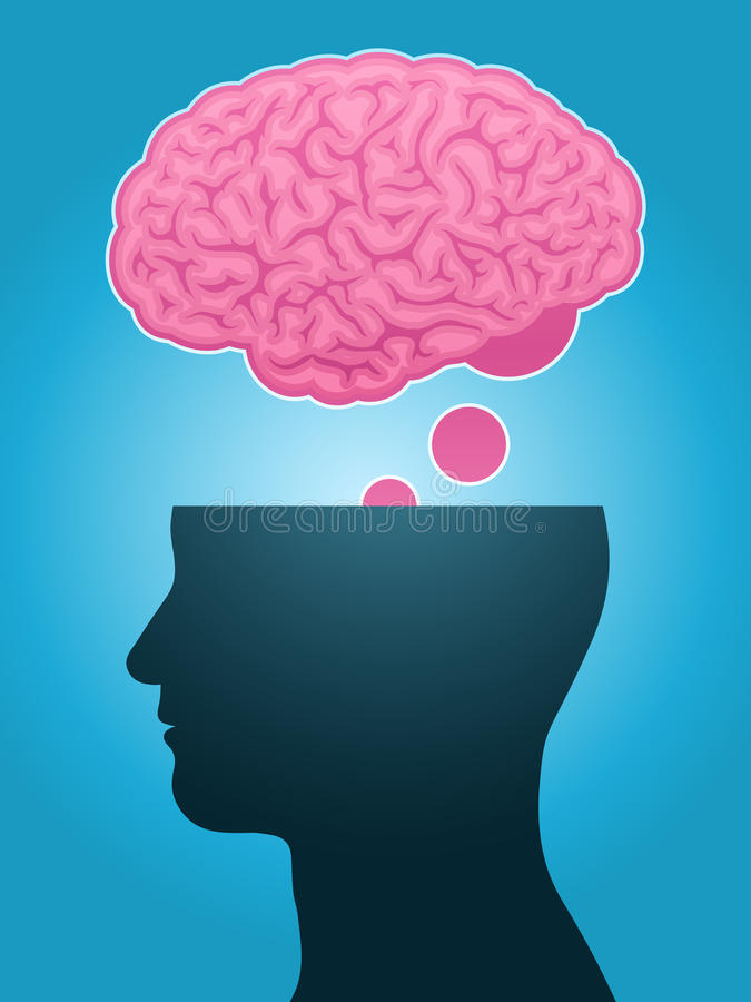Download Head Silhouette Brain Thought Stock Vector - Image: 17828916