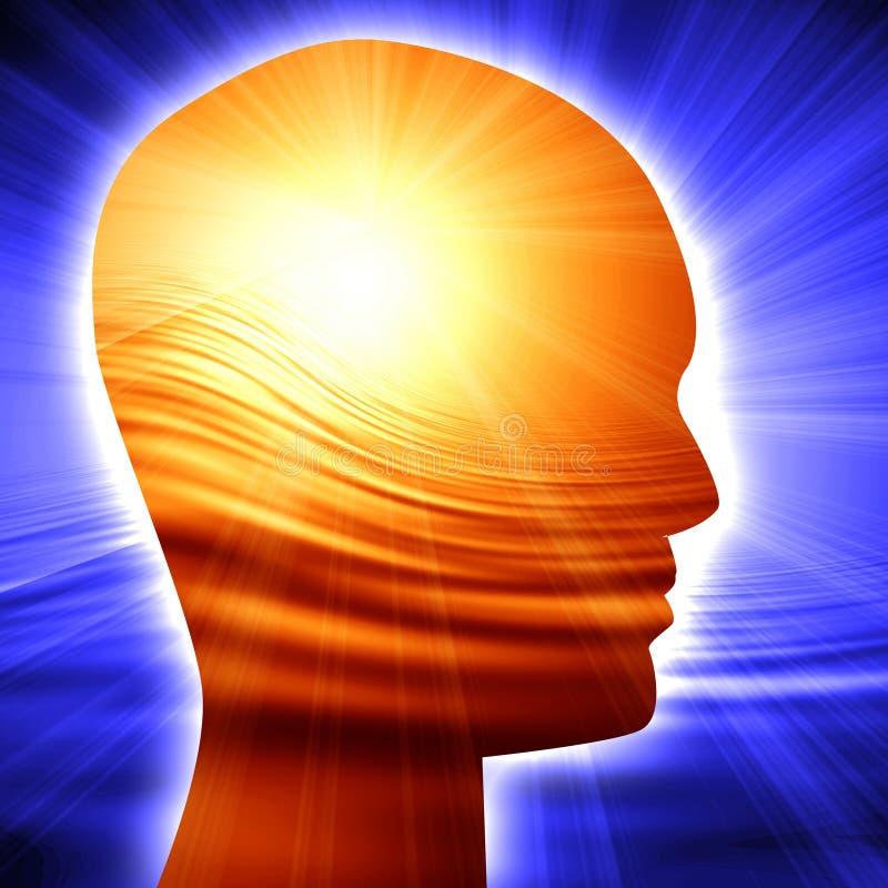 Head silhouette för människa royaltyfri illustrationer
