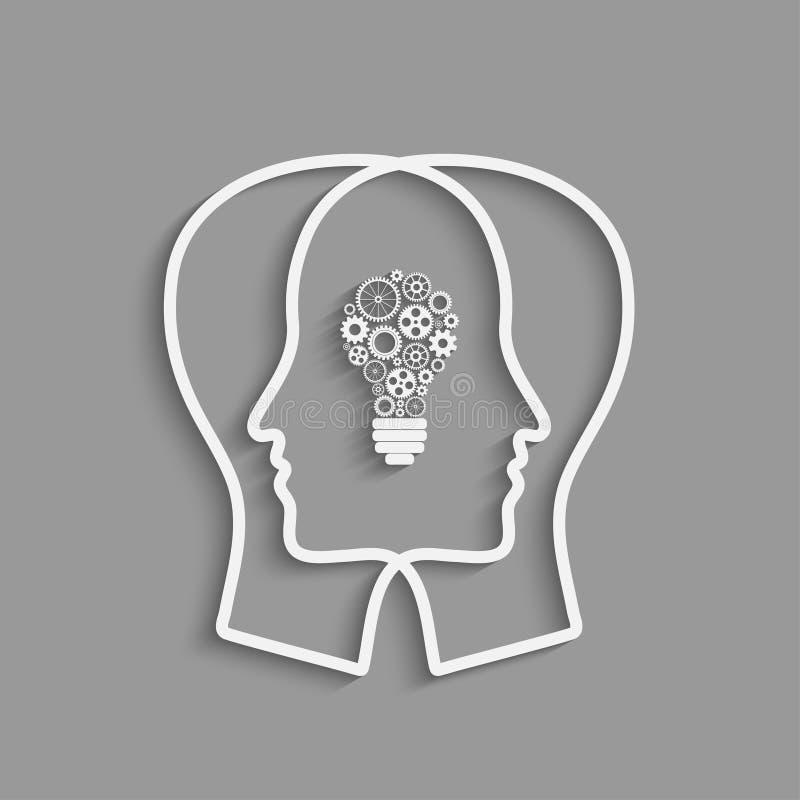 Head silhouette för människa vektor illustrationer