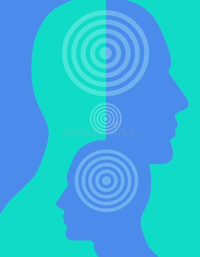 Head Silhouettes Profiles 2 stock photo