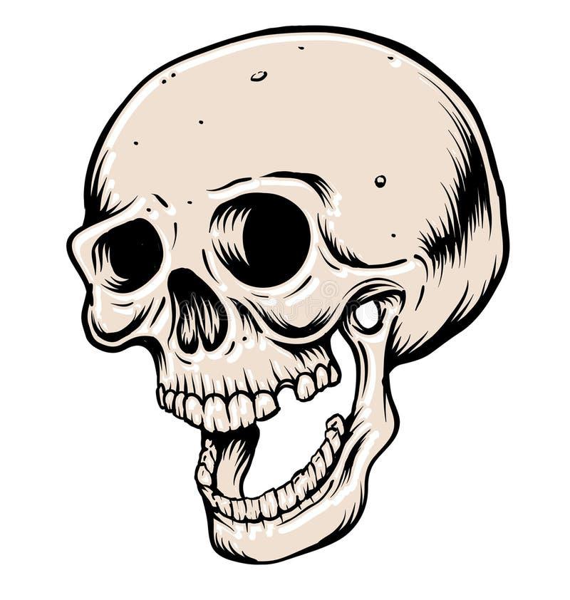 Head skalle vektor illustrationer