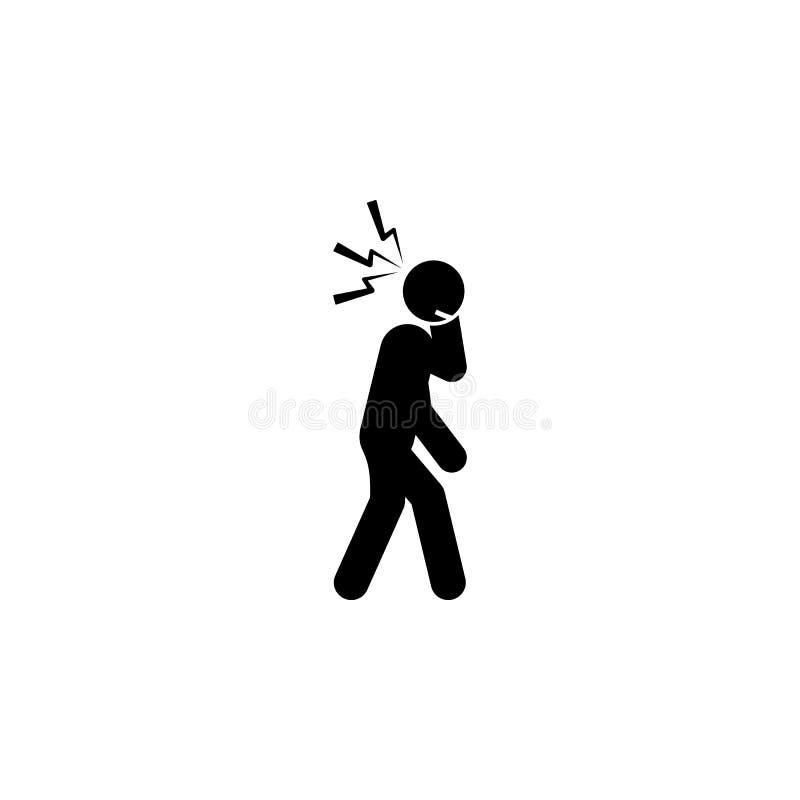 head, smärta symbolen Beståndsdelen av människan smärtar symbolen för mobila begrepps- och rengöringsdukapps Det detaljerade huvu stock illustrationer