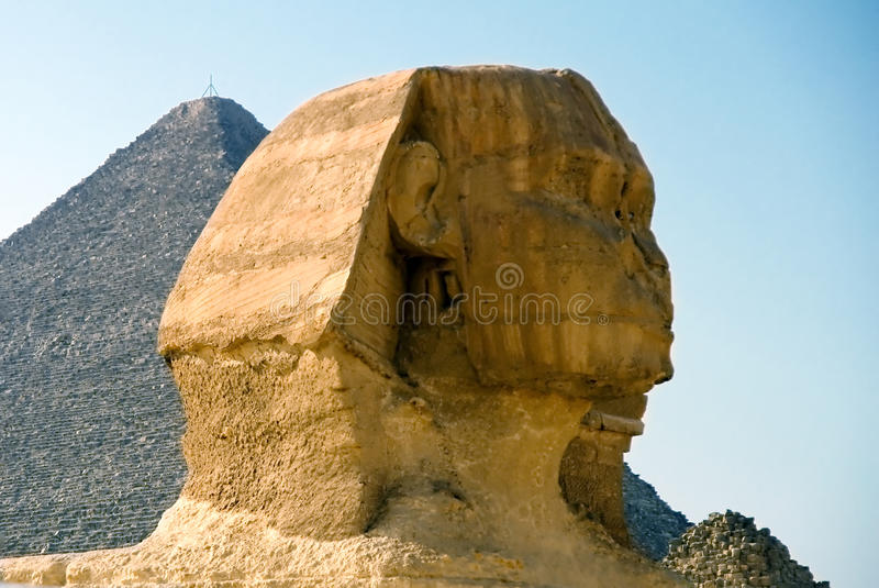 The head of the Sphinx stock images