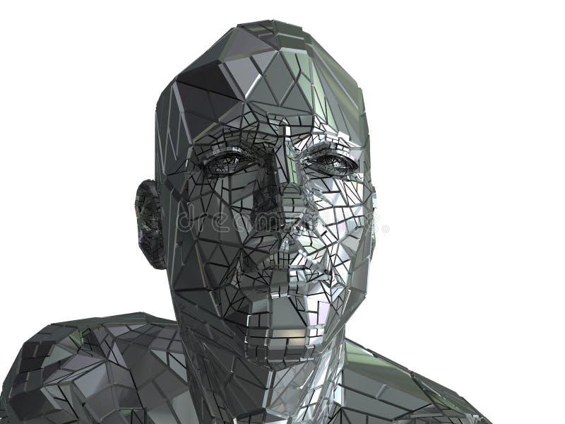 head stål stock illustrationer