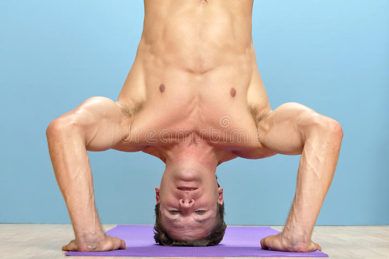 Download Head stand stock image. Image of head, wood, health, healthy - 28081399