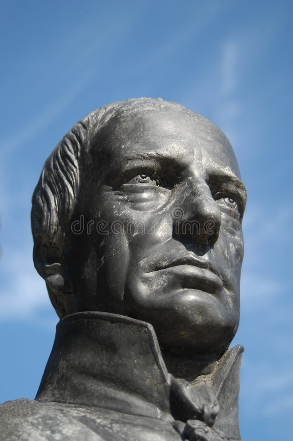 Head of a statue stock photography