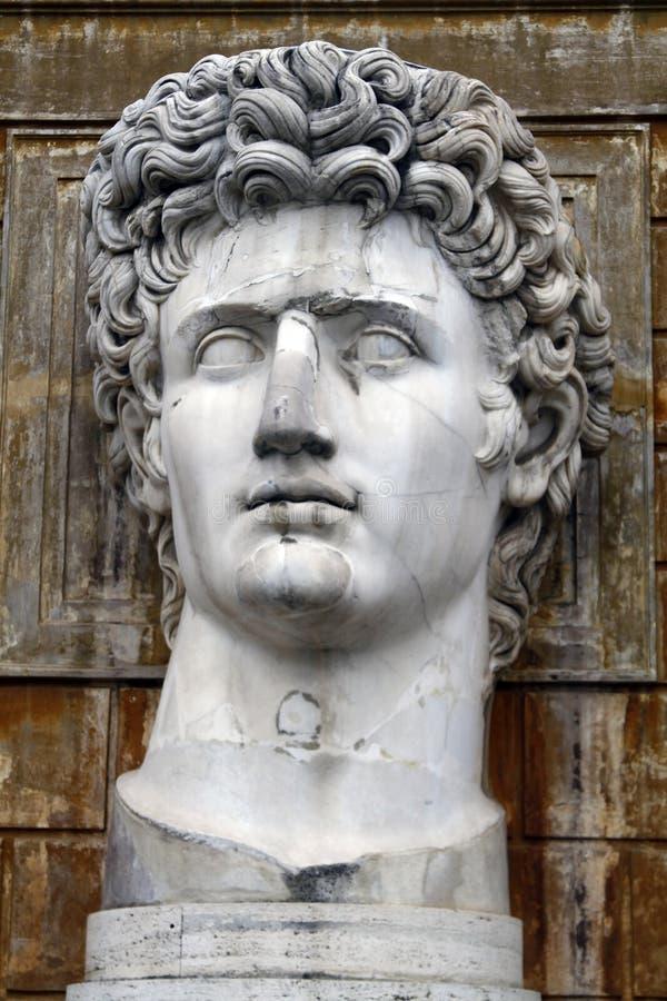 Head staty av Julius Caesar royaltyfria bilder
