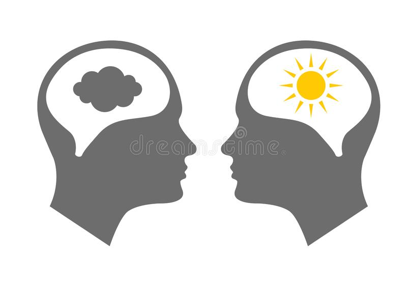 Head symbol för bipolär oordning royaltyfri illustrationer