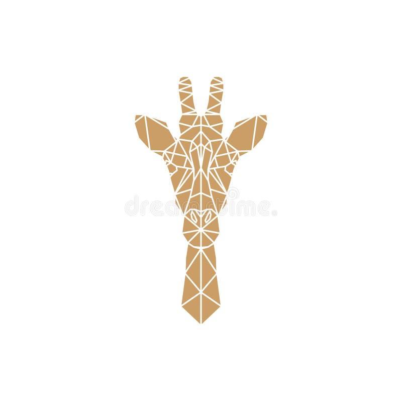 Head symbol för giraff stock illustrationer