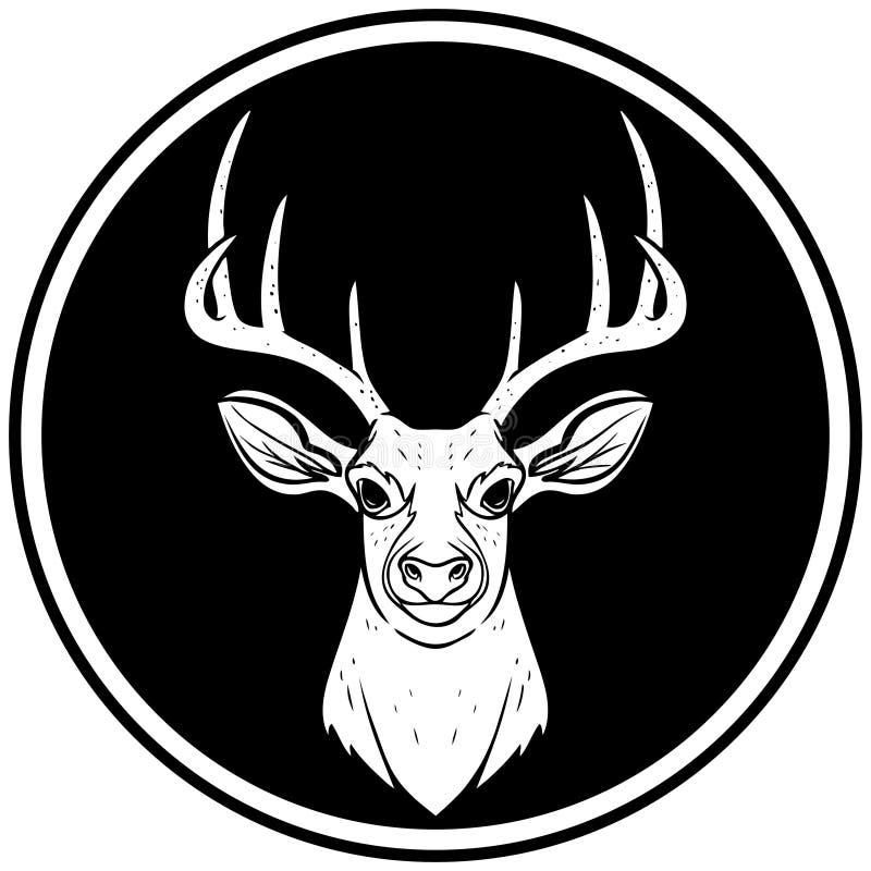 Head symbol för hjortar stock illustrationer