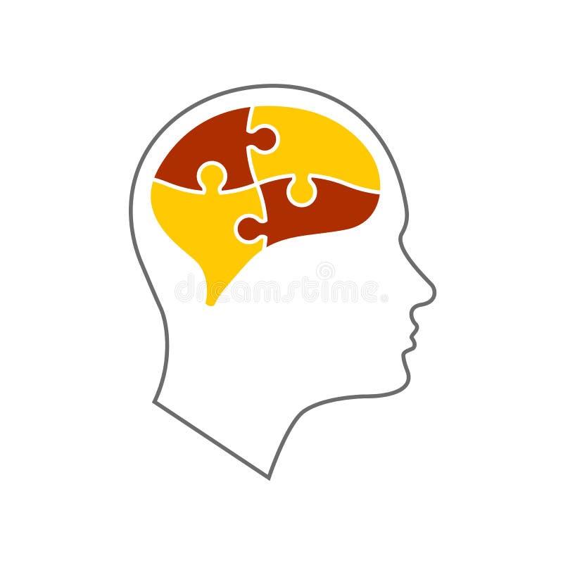 Head symbol för mentala hälsor royaltyfri illustrationer