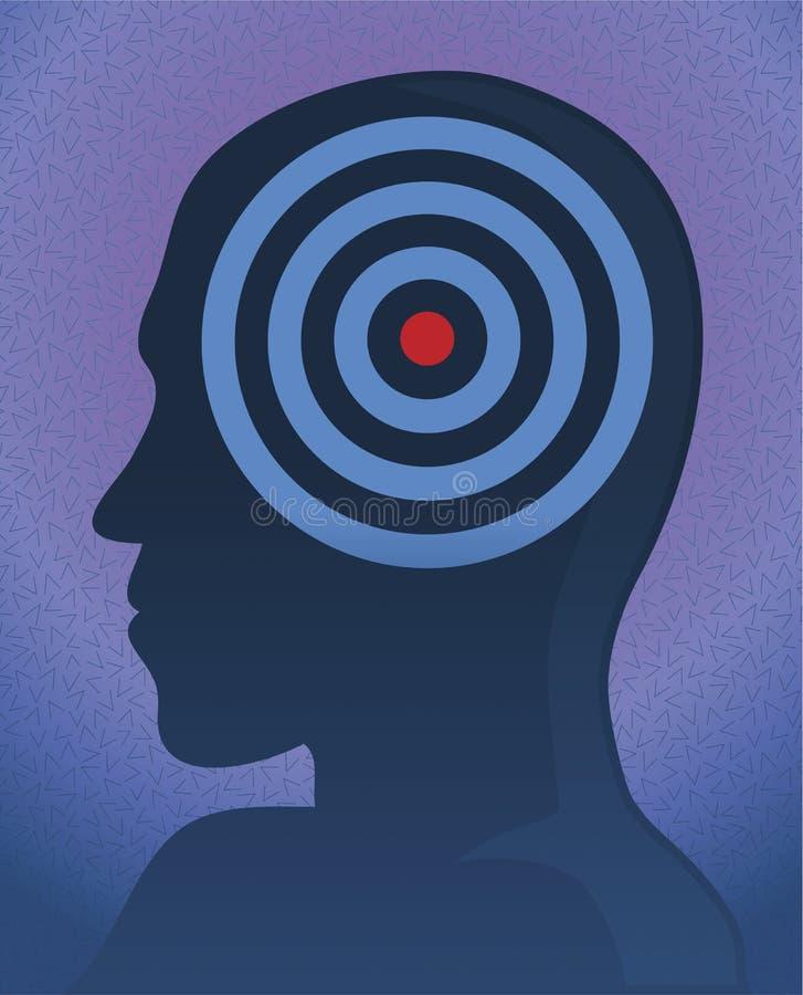 Head target vector illustration
