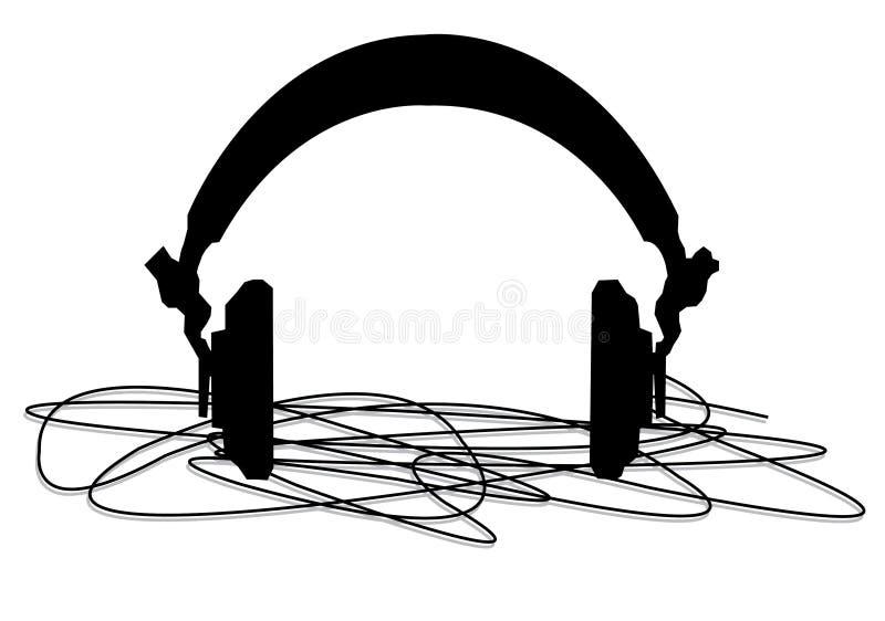 head telefoner royaltyfri illustrationer