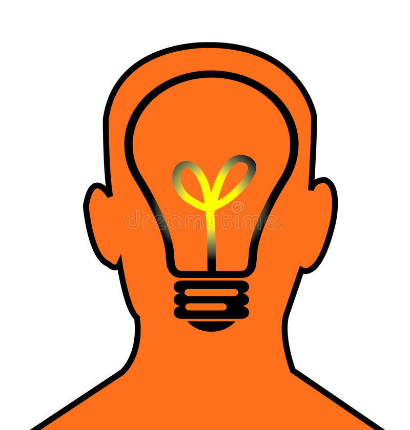 Download Head think stock illustration. Image of what, head, idea - 656889