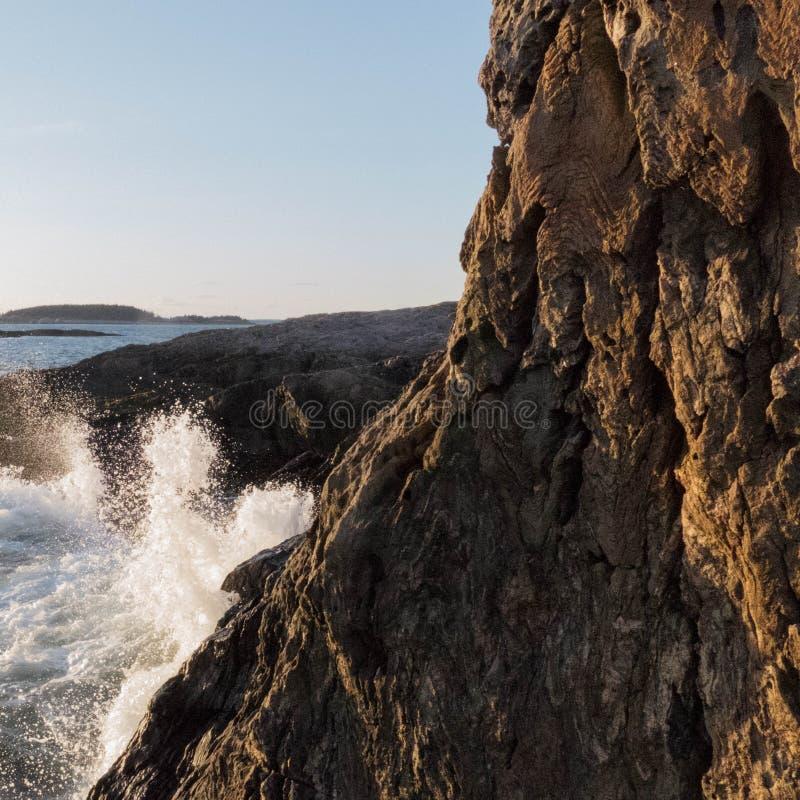Head Tide Beach at Sunset royalty free stock photos