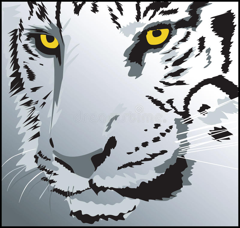 Download Head of a tiger stock illustration. Illustration of remorseless - 11892819