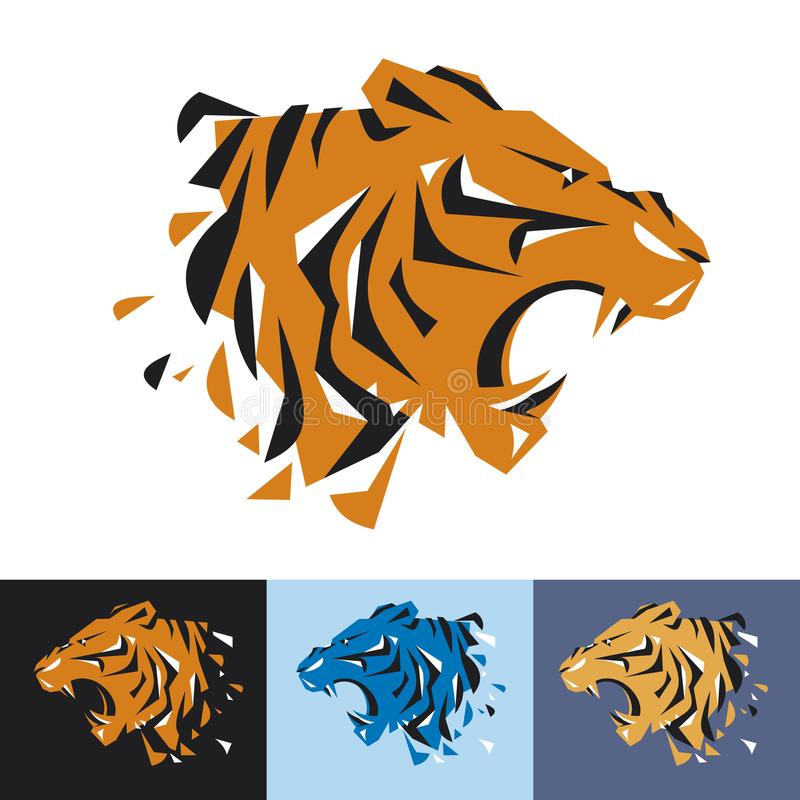 Head of tiger is a logo template for the corporate identity vector illustration