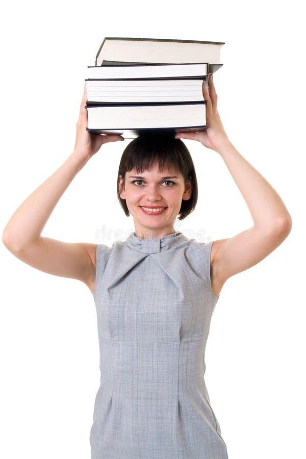head tjockt för böcker arkivfoton