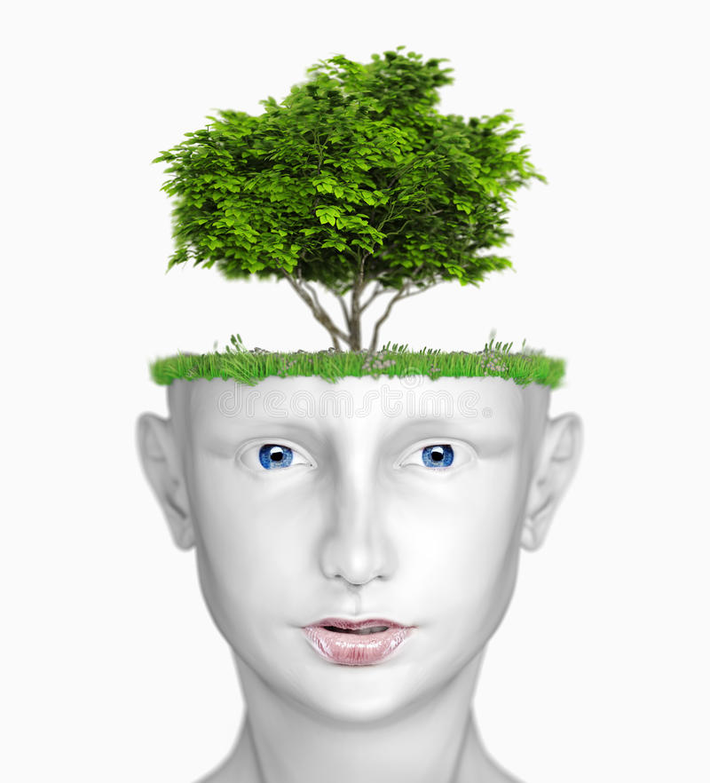 Head with tree royalty free illustration