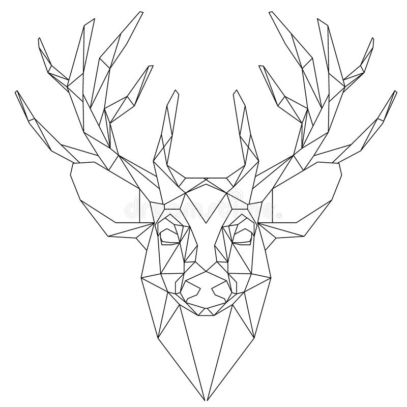 Head triangulär symbol för hjortar vektor illustrationer