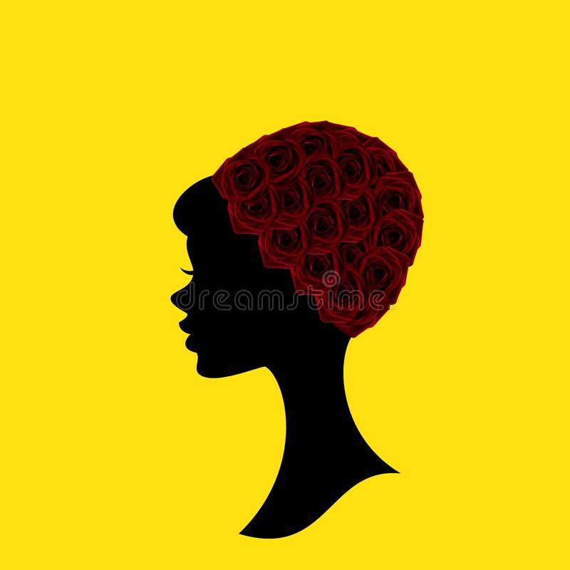 A head of woman, illustration art royalty free stock photography