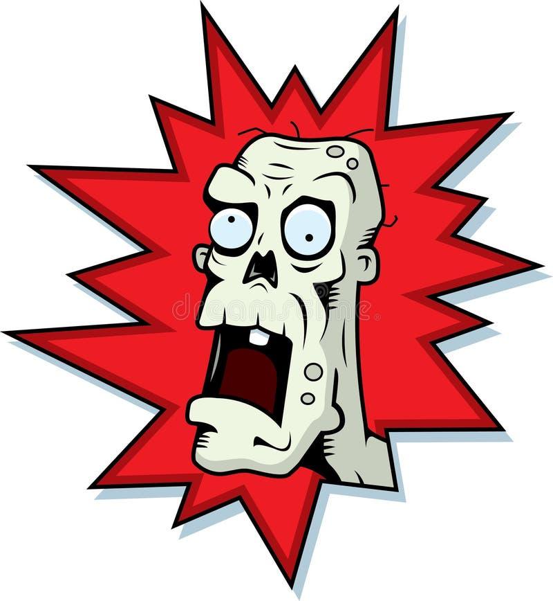 head zombie vektor illustrationer