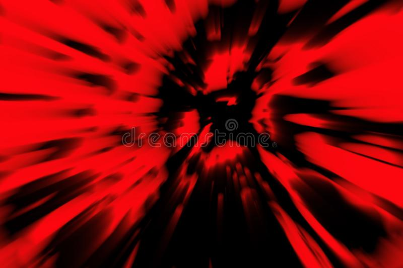 The head of the zombie crumbles into the ashes. Backdrop in genre of horror. Scary character face. Red color vector illustration