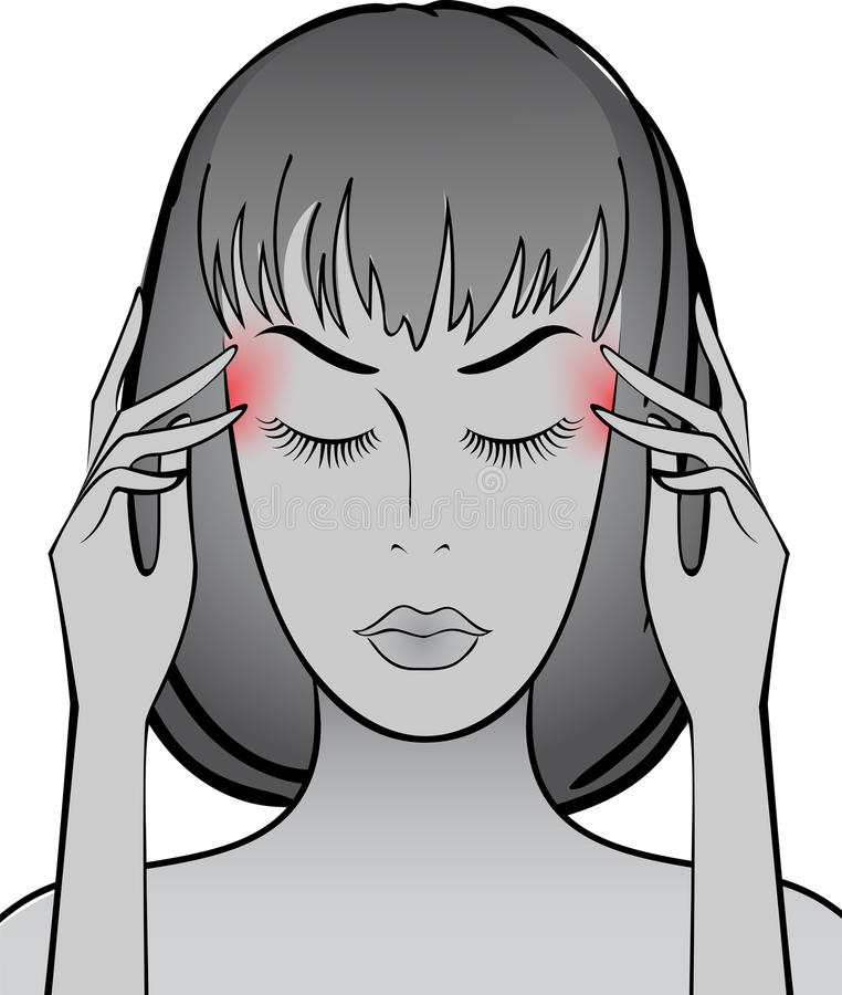 Download Headache stock vector. Image of migraine, help, fever - 19322500