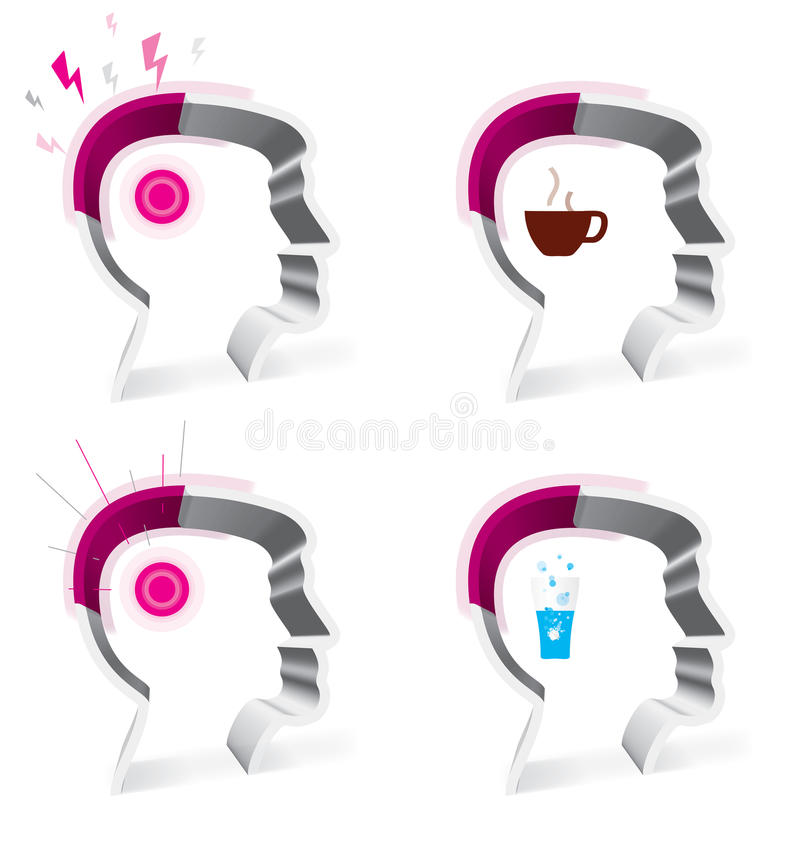 Download Headache stock vector. Illustration of brain, face, function - 20070165